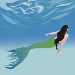 Meerjungfrau beim Schwimmen